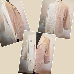 Studio Works blazer 3/4 sleeves 4 pockets size Lg